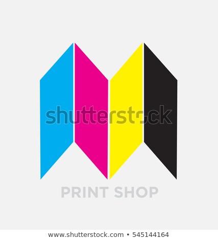 logo letter m cmyk printing sign icon vector Stock photo © blaskorizov