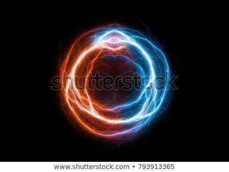 плазмы мяча дизайна иллюстрация темно свет Сток-фото © lenm