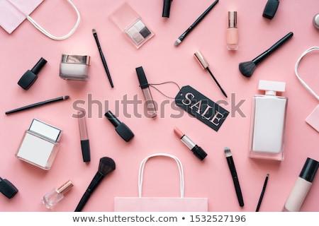 geschenk · bon · cosmetica · store · ontwerpsjabloon · witte - stockfoto © ikopylov