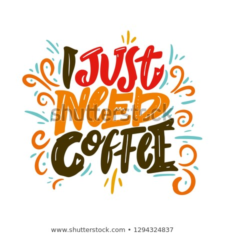 Mocha lettering. Vector illustration of handwritten lettering. Vector elements for coffee shop, mark stock photo © bonnie_cocos