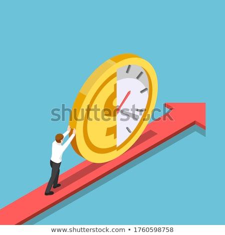 время · графика · часы · изолированный · белый - Сток-фото © ribah