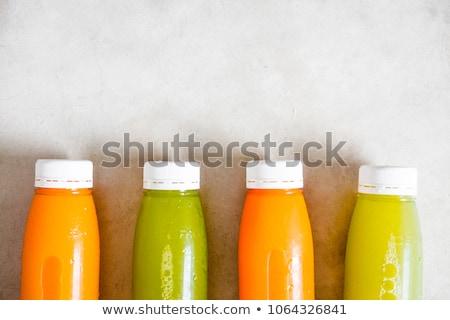 műanyag · üveg · nyers · organikus · friss · narancslé - stock fotó © DenisMArt