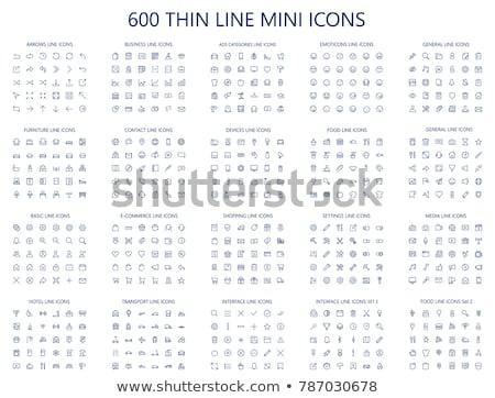 Multimedia dun lijn ontwerp computer Stockfoto © angelp