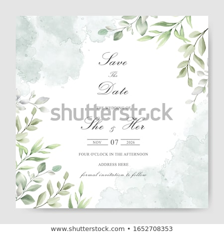 Roses delicate bouquet watercolor Vector. Wedding invitation card. Save the date. Spring summer deco Stock photo © frimufilms