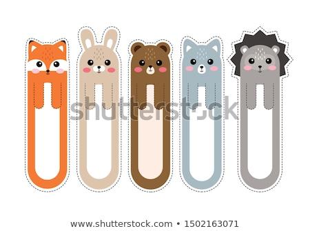 vector set of cartoon face bookmark stock photo © olllikeballoon