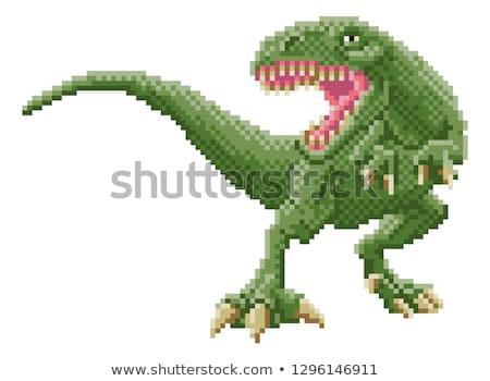 Dinosaurus beetje kunst spel cartoon Stockfoto © Krisdog