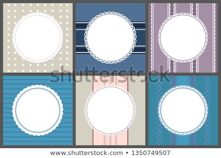 Round Spare Frames on Strips. Vector Circle Border Stock fotó © robuart