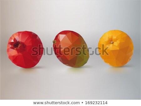 kleurrijk · groene · oranje · abstract · meetkundig · laag - stockfoto © kyryloff
