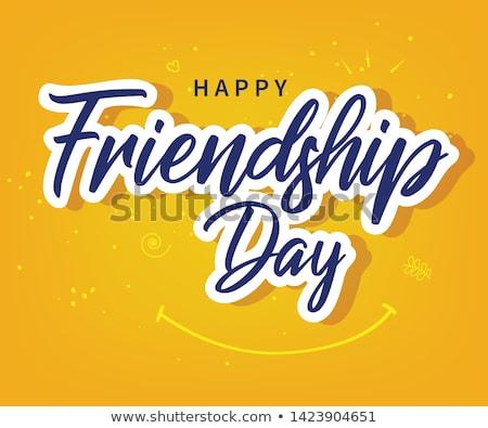 Szczęśliwy przyjaźni dzień wektora kolorowy Zdjęcia stock © netkov1