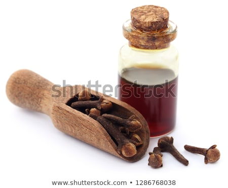 Fresh clove with oil in a jar Stock photo © bdspn