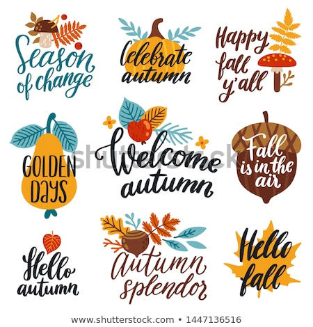 A template welcoming the Fall season Stock photo © colematt