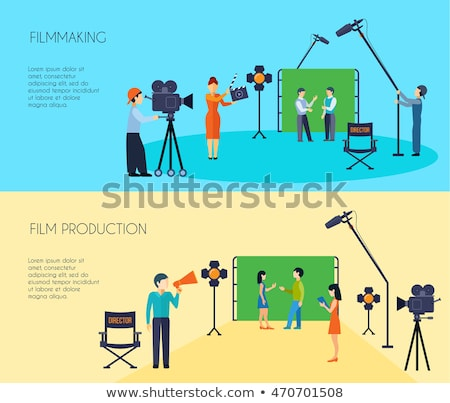 Camera for Making Movies, Camcorder with Bobbins Stock photo © robuart