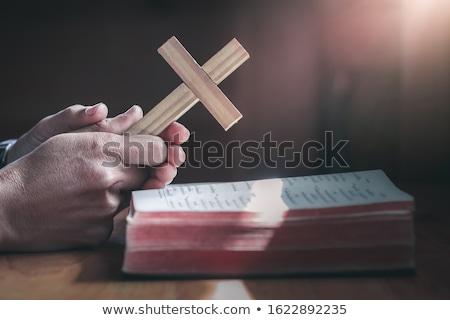 男 木製 クロス 側面図 宗教 ストックフォト © AndreyPopov