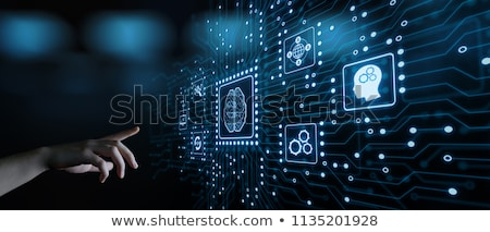 Machine learning concept with businessman Stock photo © Elnur