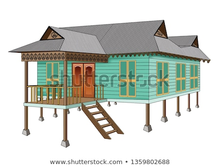 Bamboo village, Traditional houses constructed by Bamboo with Th Stock photo © galitskaya