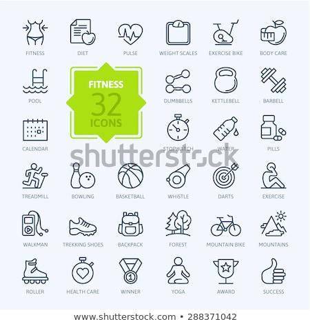 ボーリング eps 10 芸術 緑 ストックフォト © netkov1