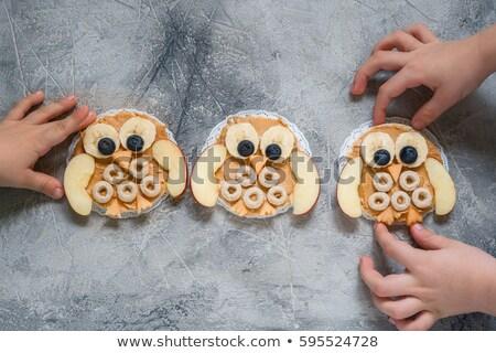Funny Rice Cake Owls Stock photo © StephanieFrey