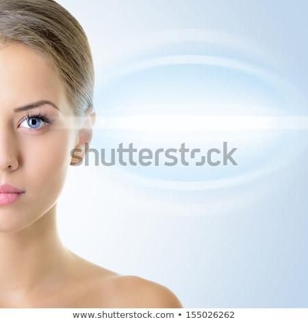 wizji · test · okulista · pacjenta · lekarza · wskazując - zdjęcia stock © serdechny