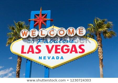 üdvözlet mesés Las Vegas felirat kék ég Egyesült Államok Stock fotó © dolgachov