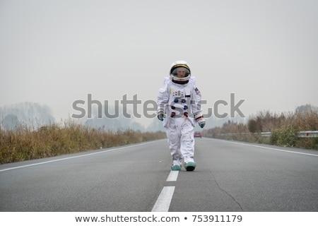 Astronaut Schritt vorwärts Raum Exploration Pop-Art Stock foto © studiostoks