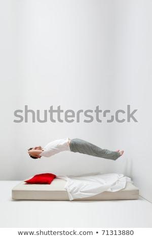 Man ontspannen lucht matras top Stockfoto © smoki