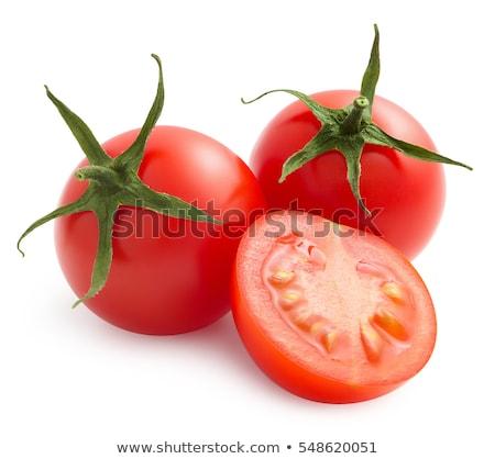 Taze bahçe kiraz domates kalp çanak Stok fotoğraf © karandaev