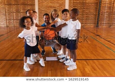 basketbal · basketbalveld · school · sport · fitness · onderwijs - stockfoto © wavebreak_media