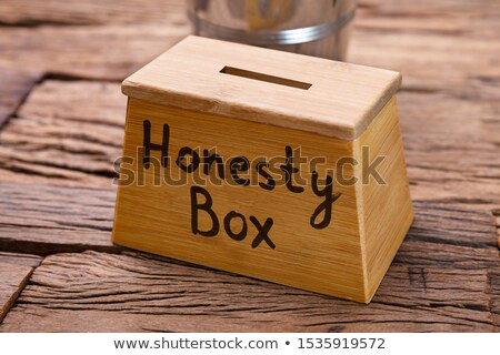 Wooden Honesty Box Stock photo © AndreyPopov