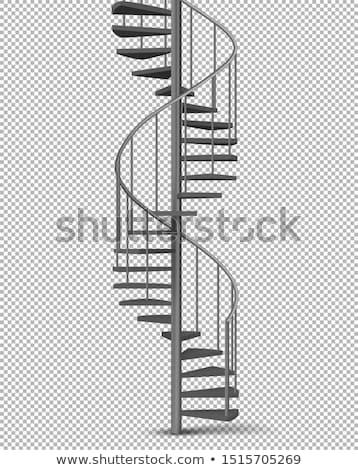 Vintage spirali schodów Fotografia korkociąg Zdjęcia stock © Anna_Om
