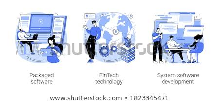 payment programs vector concept metaphors stock photo © rastudio