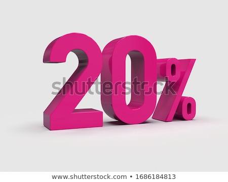 Twenty Percent On White Background Isolated 3d Illustration Photo stock © Supertrooper