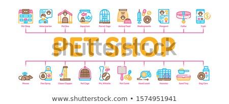 Haustier Laden minimal Banner Vektor Stock foto © pikepicture