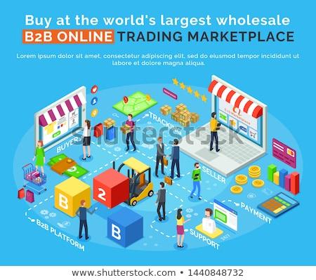 Vendre partout dans le monde commerce plate-forme web Photo stock © robuart