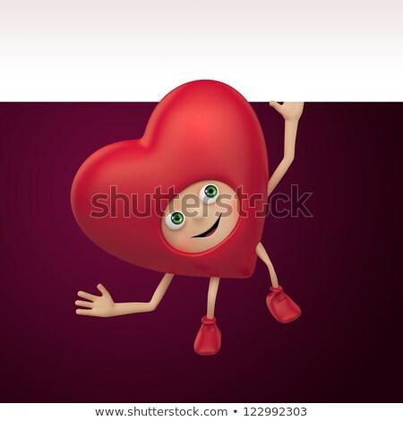 Love at first sight greeting card layout Stock photo © barsrsind
