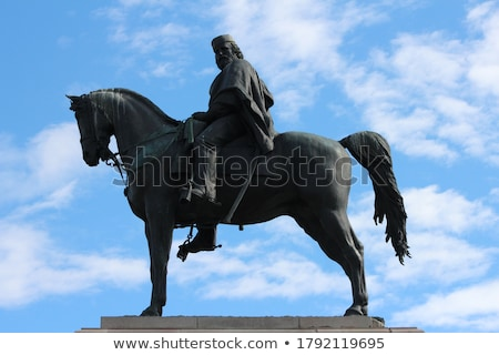 Monument of Giuseppe Garibaldi, placed in Rome on the highest po Stock photo © Zhukow