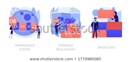 Handlowy towary wektora metafory urząd celny kontroli Zdjęcia stock © RAStudio