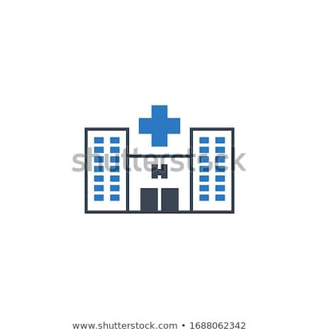 Hospital related vector glyph icon. Stock photo © smoki