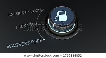 制御 文字 化石 水素 電気 ストックフォト © limbi007