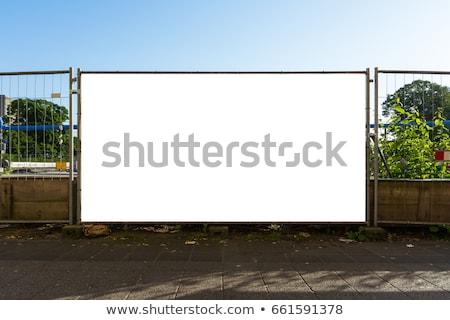 werknemer · stopteken · oude · materieel · deur · metaal - stockfoto © darkves