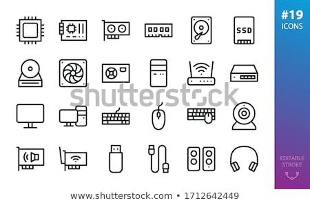 tecnologia · ilustração · preto - foto stock © cla78