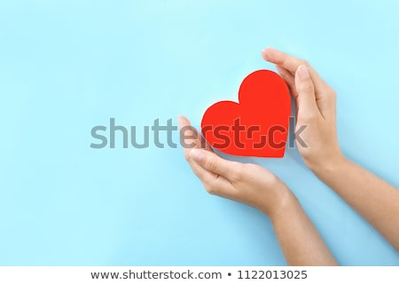 Red heart in female hands stock photo © alrisha