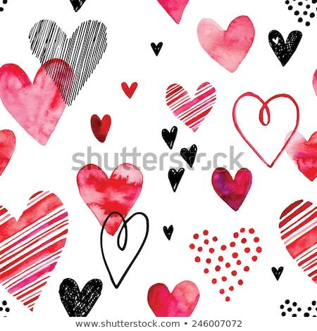 Kırmızı grunge stil kalp sıçramak afiş Stok fotoğraf © TheModernCanvas