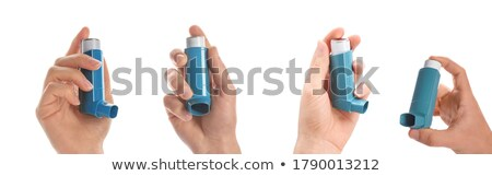 Stock fotó: Inhaler Isolated
