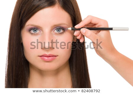 close up look of applying cosmetic pencil stock photo © imarin