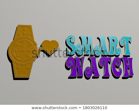 SMART made of color letters stock photo © bbbar