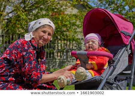 Couple sat on trolley Stock photo © photography33