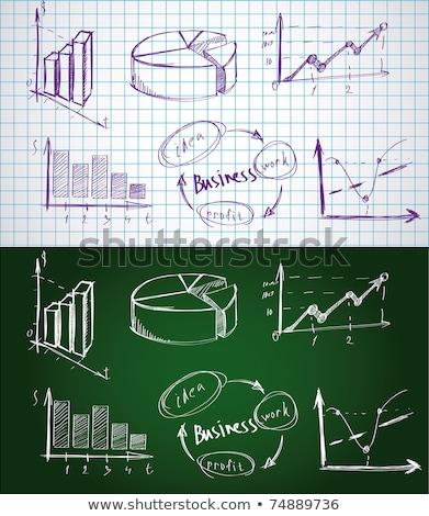 Scribble business chart Stock photo © nicemonkey