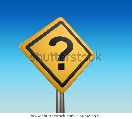 question mark road on yellow warning sign confusion stock photo © iqoncept
