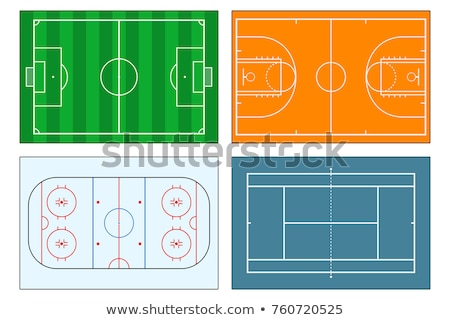Stock photo: Soccer tennis and basketball fields