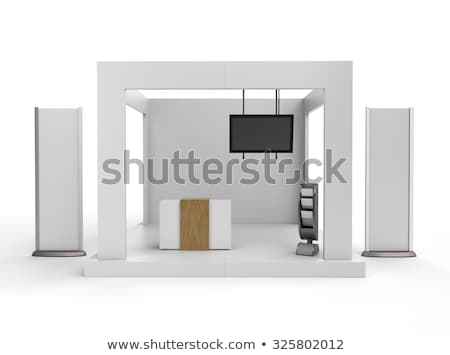 Symmetrisch houten billboard abstract achtergrond architectuur Stockfoto © smithore
